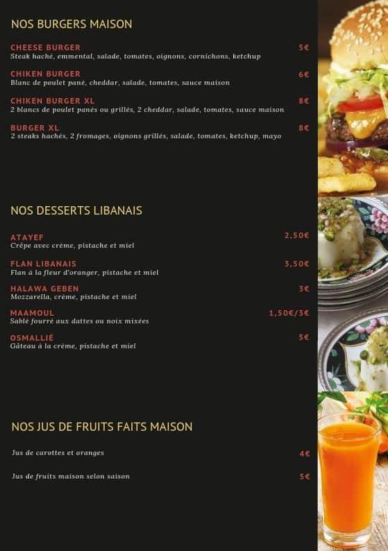menu la maison du liban page 4