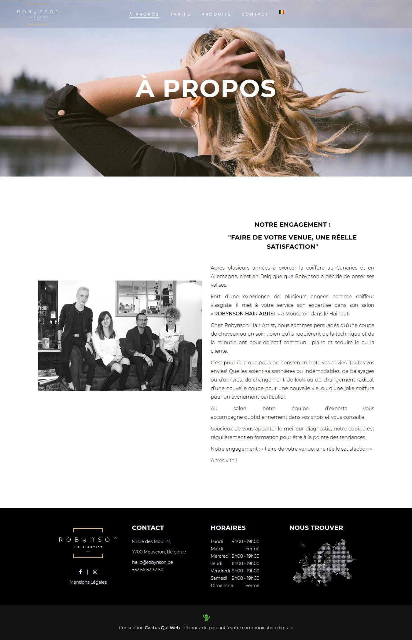 Screenshot_2019-04-15 À propos - ROBYNSON Hair Artist - Coiffeur, Salon de Coiffure
