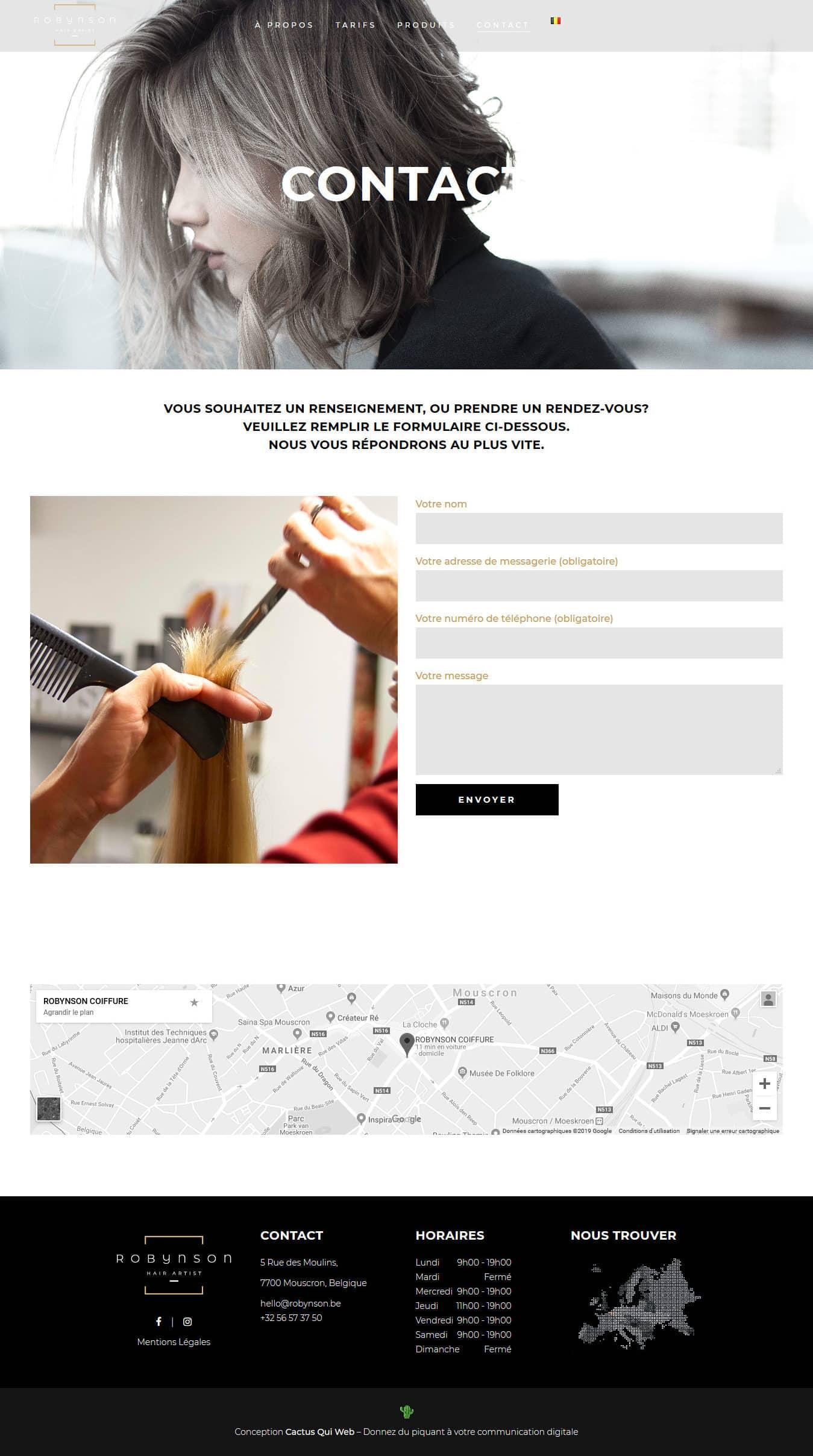 Screenshot_2019-04-15 Contactez-nous - ROBYNSON Hair Artist - Coiffeur, Salon de Coiffure