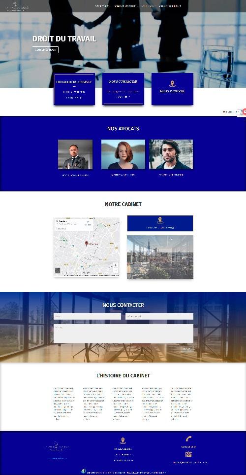 Création site vitrine - Cabinet d'avocats