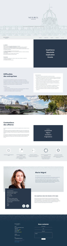 Screenshot Cabinet Negrel Avocats fr Paris negrelavocats com