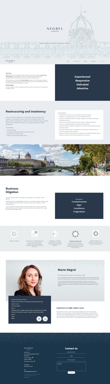 Screenshot Cabinet Negrel Avocats us Paris negrelavocats com