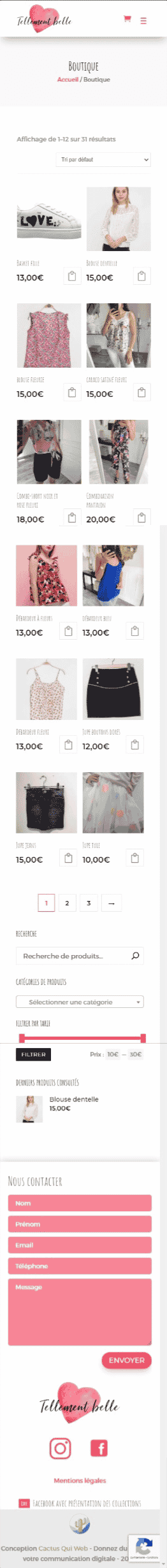 boutique mobile tellement belle e commerce