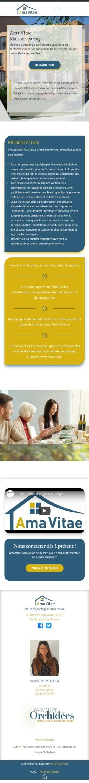 Vue mobile Accueil Ama Vitae amavitae fr