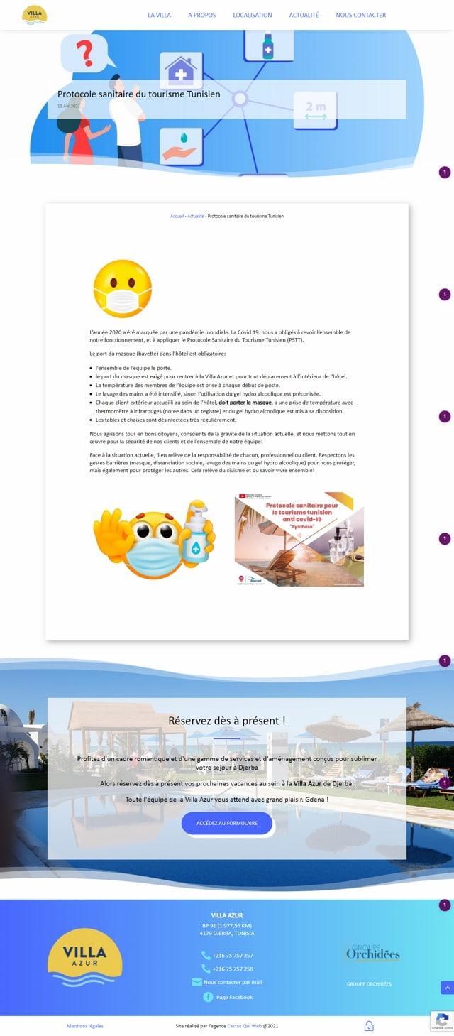 Article protocole sanitaire villa azur djerba640x480